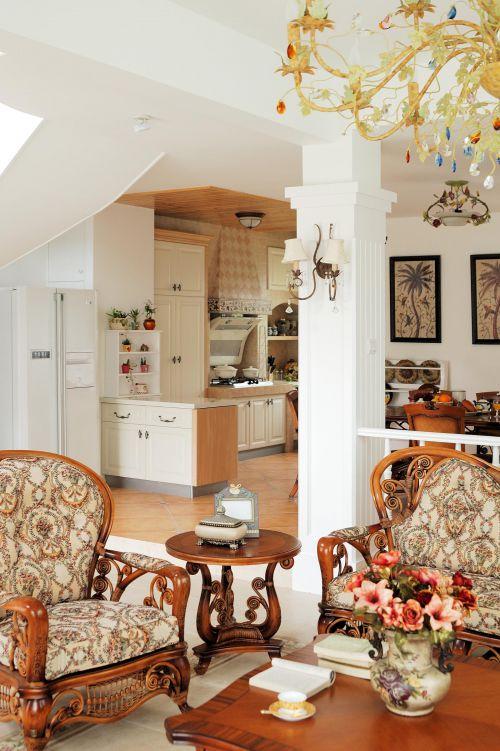 田园美式客厅设计案例展示