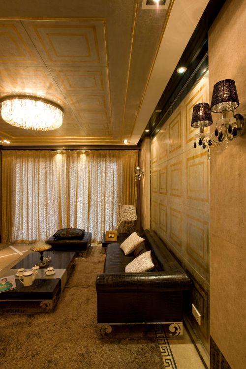 现代简约美式客厅效果图