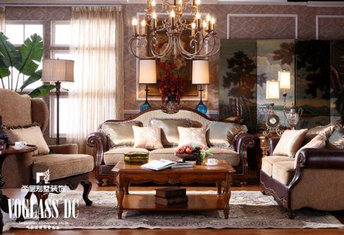 美式美式风格客厅设计案例展示