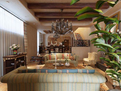 美式客厅吊顶设计方案