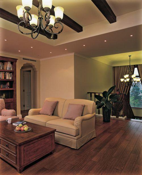 美式客厅吊顶设计案例展示