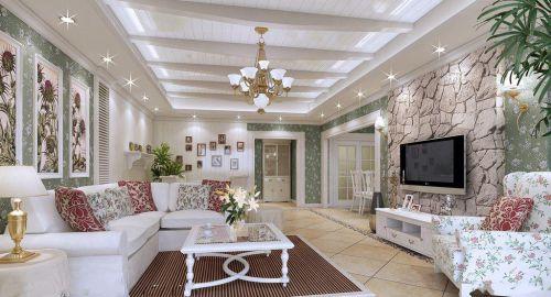 田园美式客厅设计方案