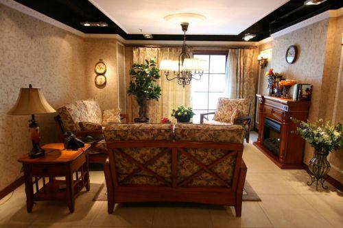 美式客厅窗帘设计方案