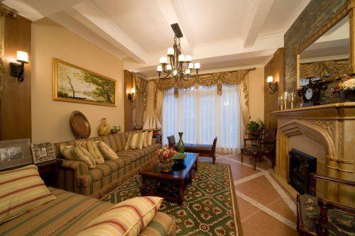 欧式田园美式客厅案例展示