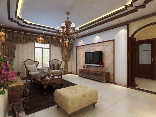 美式美式风格客厅装修图