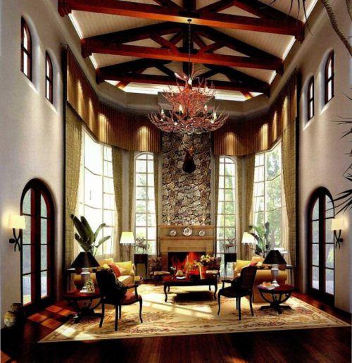 美式客厅装修效果展示