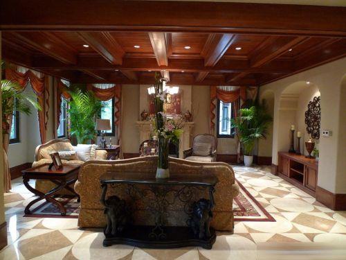 美式客厅效果图