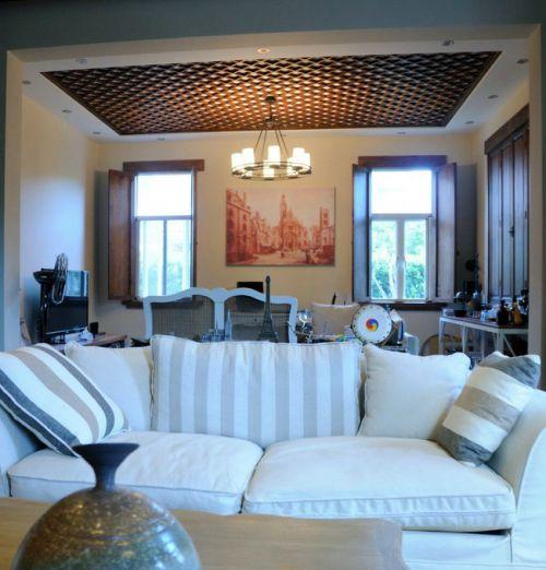 美式客厅别墅吊顶设计案例展示