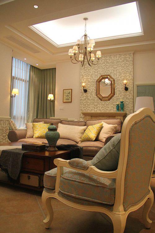 欧式美式客厅装修效果展示