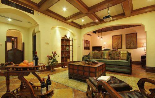 美式客厅别墅吊顶设计案例