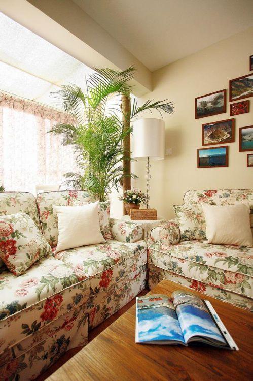 田园美式客厅装修图