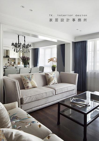 中式美式客厅装修图