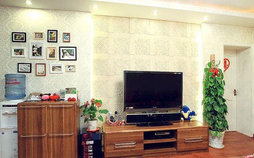 田园田园风格客厅背景墙电视背景墙装修图