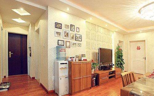田园田园风格客厅背景墙电视背景墙装修案例