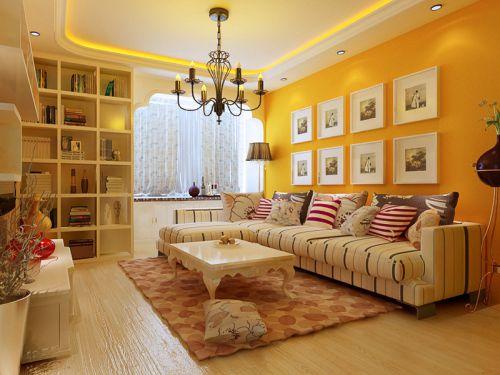 田园客厅沙发茶几装修案例