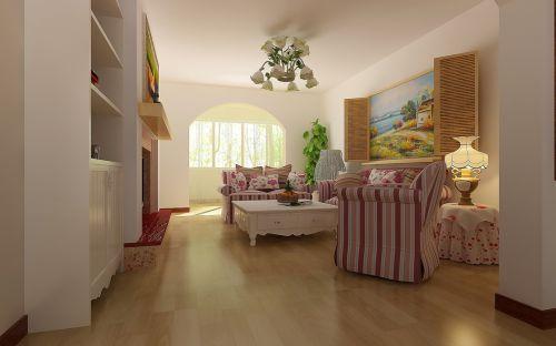田园田园风格客厅背景墙沙发客厅沙发效果图