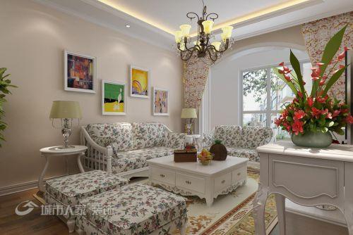 田园田园风格客厅背景墙沙发客厅沙发设计图