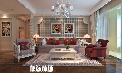 欧式田园田园风格客厅背景墙沙发客厅沙发设计案例展示