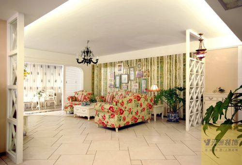 欧式田园客厅图片