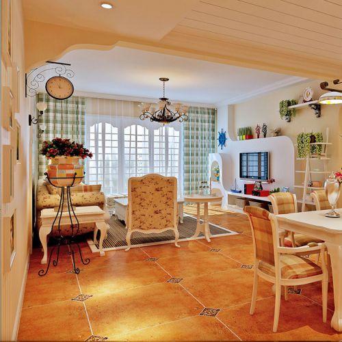 欧式田园客厅设计案例
