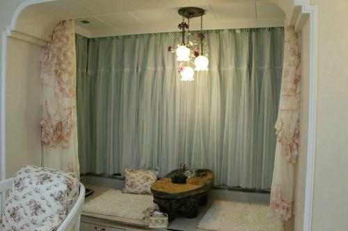 田园客厅窗帘榻榻米设计图