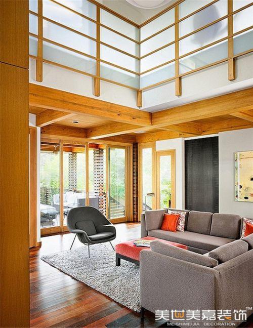 田园美式田园风格客厅别墅设计方案