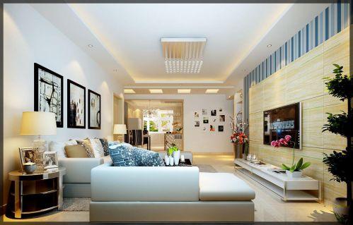 欧式田园简欧客厅设计方案