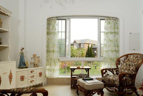 田园美式客厅图片