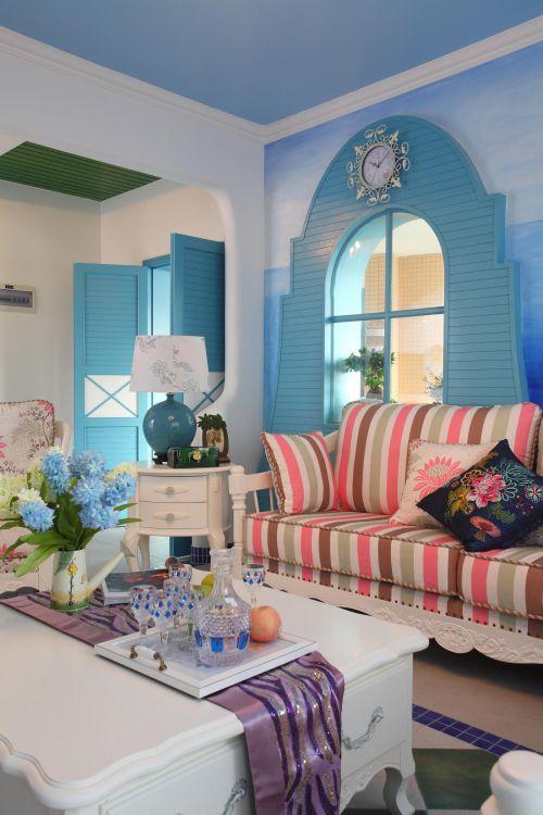 田园地中海客厅沙发设计案例