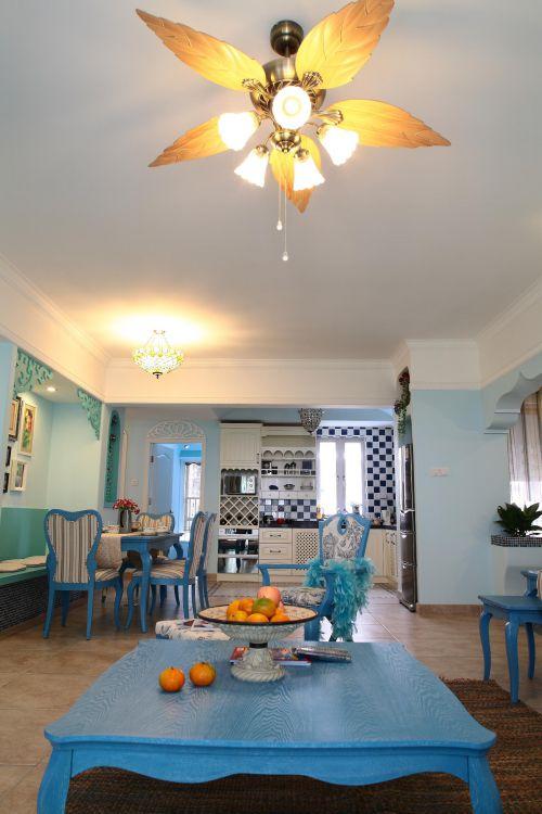 地中海客厅餐厅设计案例