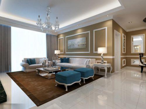 地中海简欧客厅设计方案