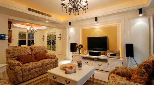 混搭混搭风格客厅吊顶背景墙电视背景墙设计图
