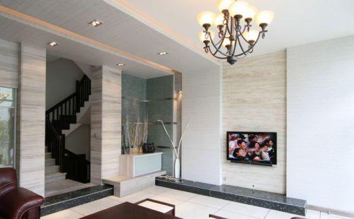 混搭客厅过道复式楼楼梯案例展示