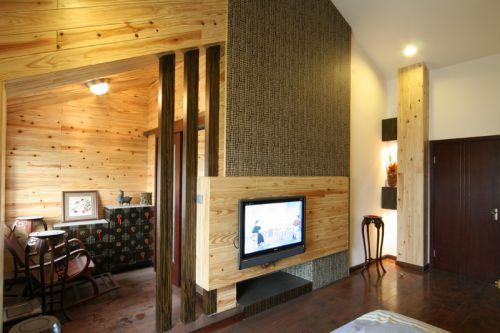 混搭混搭风格客厅别墅电视背景墙设计图