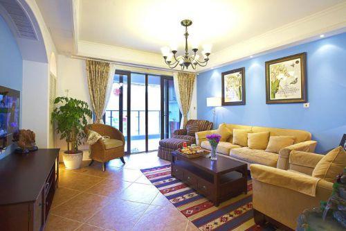 地中海美式混搭客厅图片