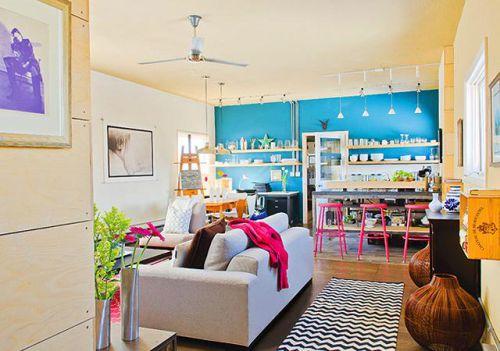 现代简约地中海美式混搭复古客厅装修案例