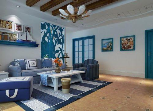 田园地中海客厅设计方案