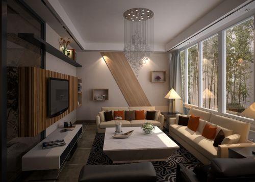混搭现代客厅设计案例