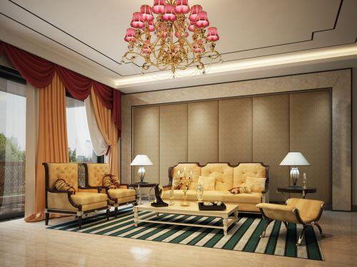 欧式混搭客厅设计图