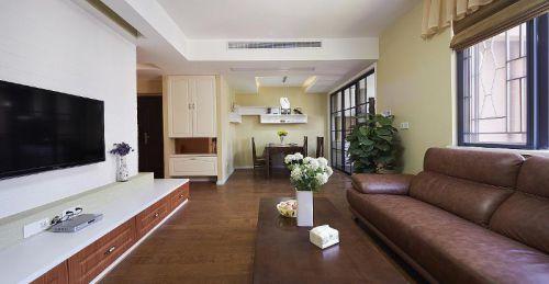 地中海美式清新客厅设计图