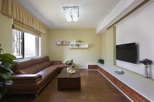 地中海美式清新客厅效果图