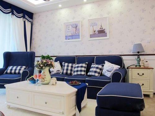 地中海客厅沙发单人沙发装修案例