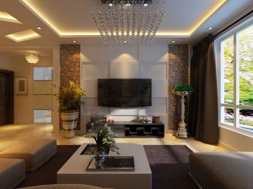 混搭混搭风格客厅电视背景墙设计案例展示