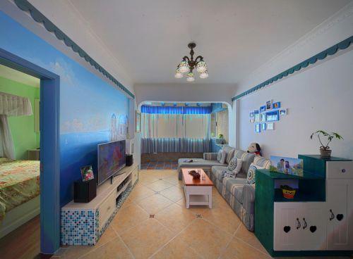 地中海客厅电视背景墙设计方案