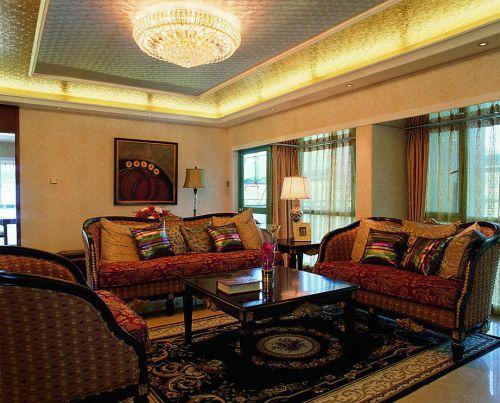 东南亚客厅装修案例