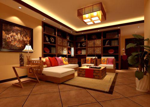 混搭混搭风格客厅跃层吊顶设计图