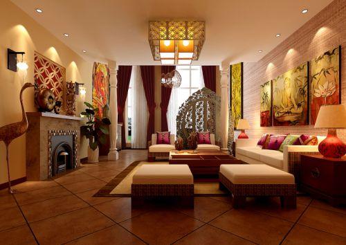 东南亚混搭客厅案例展示