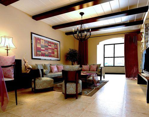 东南亚客厅吊顶案例展示