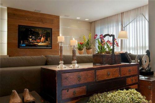 混搭客厅电视背景墙设计案例展示