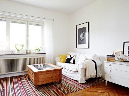 清新雅致69平米白色复式公寓